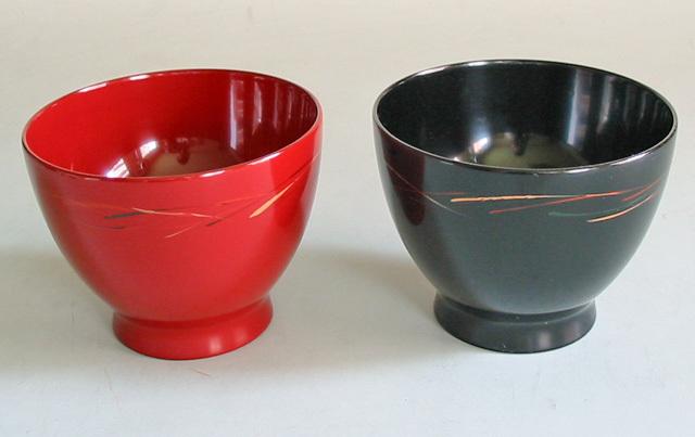 彩りペア椀 吸上げ(製造中止) 木製 漆塗り ペア 木のお椀・味噌汁椀