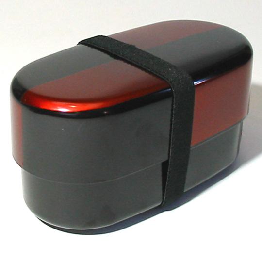 オーバル二段弁当箱 白檀市松 ランチボックス