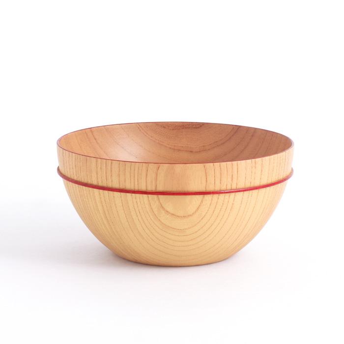MOKUボウル C 赤ライン 木製