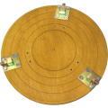 【送料、代引手数料無料】山戸(やまと) 盆チャックS型ベニヤ板製 金具3点付380mm 木旋クール380型シリーズ用別売部品<山戸製作所>