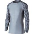 おたふく BT冷感・消臭パワーストレッチ長袖クルーネックシャツ グレー×迷彩 :JW-623 <おたふく手袋>