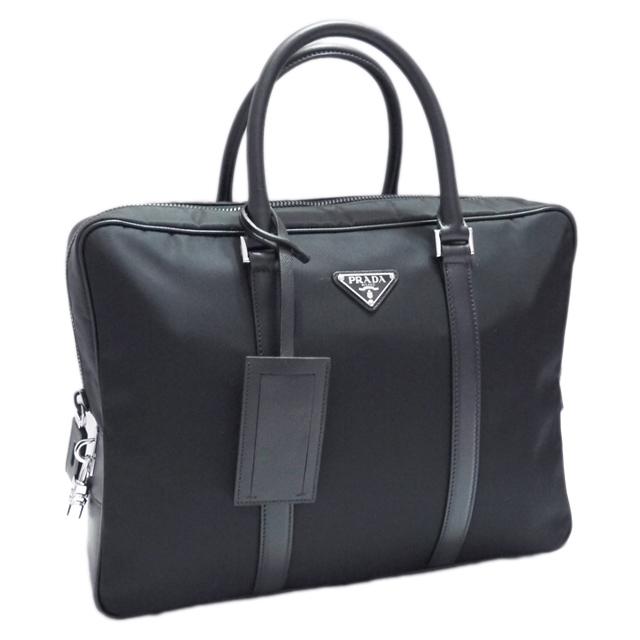 プラダ メンズ ブリーフケース(ビジネス書類バッグ) ナイロン 黒 VA0661 PRADA