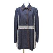 プラダ デニムジャケットコート インディゴ #42 PRADA