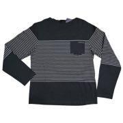 プラダ メンズ ボーダー 長袖Tシャツ 黒 #M  PRADA