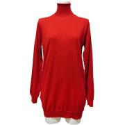 プラダ ウール100% タートルネックセーター(ニット) 赤 #38 PRADA