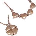フォリフォリ ハート&クローバーネックレス Heart 4 Heart ピンクゴールド FOLLI FOLLIE