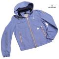 モンクレール メンズブルゾン(ウインドブレーカー) LYON(リヨン) ギンガムチェック 青×白 #3  MONCLER