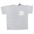プラダ メンズ ボーダー クルーネックTシャツ 白 #M  PRADA