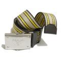 プラダ メンズ ロゴ キャンバス生地 カジュアルベルト 黄色 #85 #90 #100 PRADA