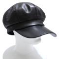 プラダ ナッパレザー(革) キャスケット帽子 男女兼用 黒 PRADA