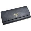 プラダ サフィアーノレザー 二つ折り長財布 1M1132 黒 PRADA