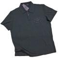 プラダ メンズ 刺繍ロゴ 半袖ポロシャツ 黒 #L PRADA