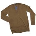 プラダ メンズ Vネック 薄手ウールセーター(ニット) 茶 #46 PRADA