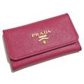 プラダ サフィアーノレザー 6連キーケース ピンク(IBISCO) 1PG222 PRADA