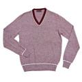 プラダ メンズ  Vネックセーター ワインレッド #50 PRADA