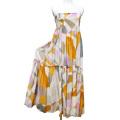 エミリオプッチ リゾートに ロングスカートとしても使える2Wayベアロングワンピース オレンジ×ピンク #44 EMILIO PUCCI
