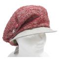 bedacht イタリア製 リボンが可愛い 夏用キャスケット帽子 赤