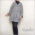 コスミカ イタリア製 千鳥格子ジャケットコート 黒×白 #M kosmika
