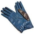 ポートランド イタリア製 レザーグローブ(手袋) 青緑×濃茶 PORTLAND