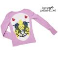 ルシアンペラフィネ INTARSIA CREST SKULL スカル セーター パープルピンク #S lucien pellat-finet