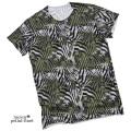 ルシアンペラフィネ メンズ スカルカモフラージュ(迷彩) Tシャツ カーキ #M lucien pellat-finet