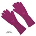 ルシアンペラフィネ 定番刺繍ニットグローブ(手袋) 赤紫 lucien pellat-finet