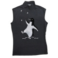 ブルーガール ペンギン ノースリーブタートルニット 黒 #38 BLUGIRL JEANS