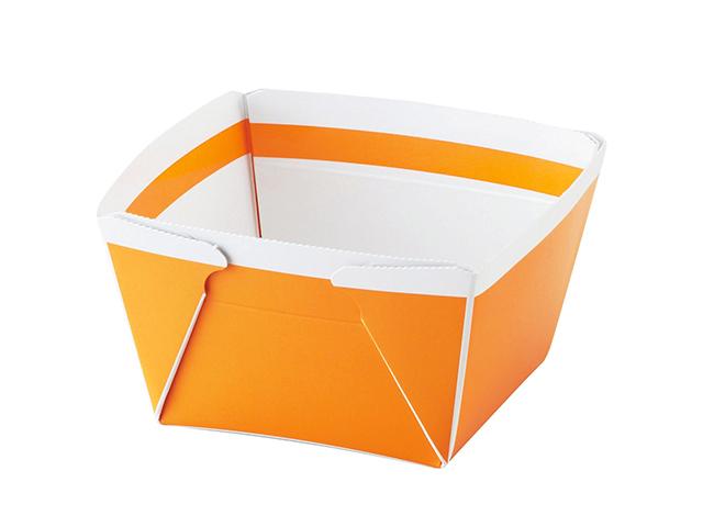 IK ボウルBOX 小 オレンジ蓋付 (50枚入)