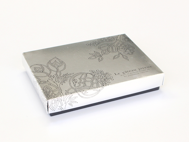 生チョコ函 プラチナ 12×8 (ピック付)