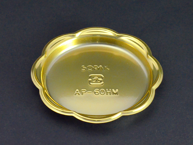 ケーキトレー AP-60HM ゴールド (100枚入)