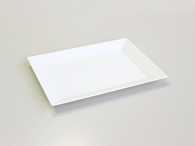 ニシキ 角皿(特小) 白磁 (20枚入)