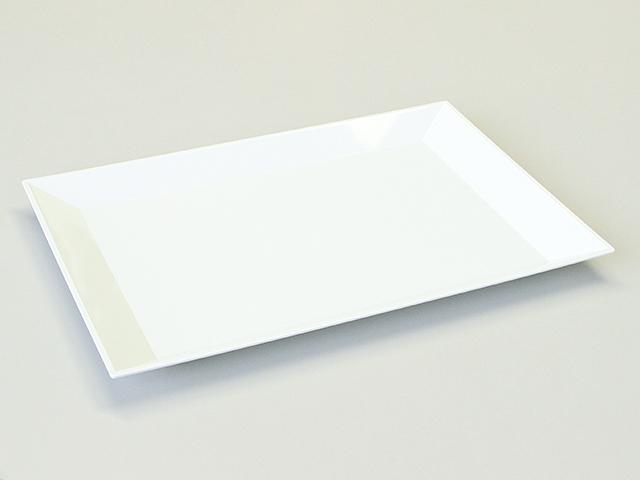 ニシキ 角皿(大) 白磁 (10枚入)