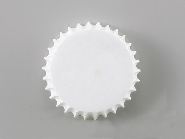 純白ペット 白無地 80φ×21.5H (300枚入)