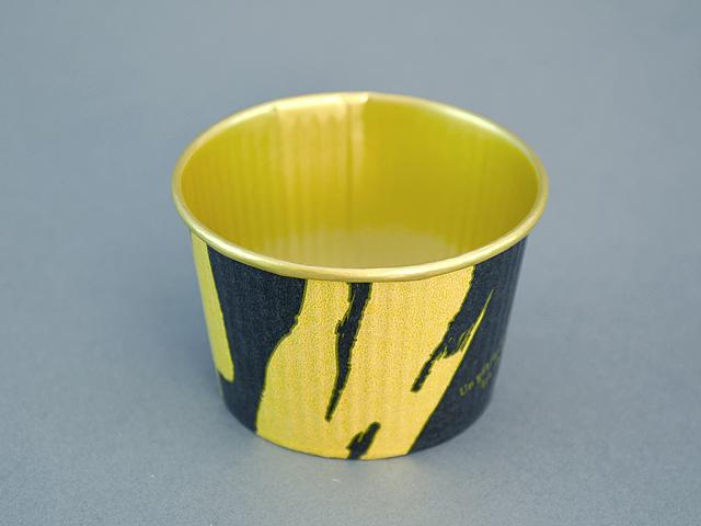 プリーツカップ 43F 和風柄 黒 (100枚入)