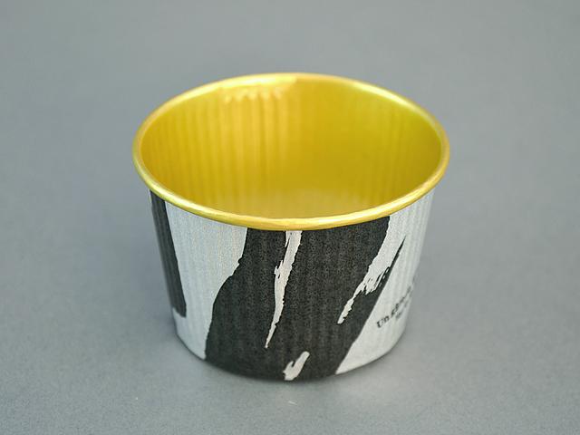 プリーツカップ 43F 和風柄 銀 (100枚入)