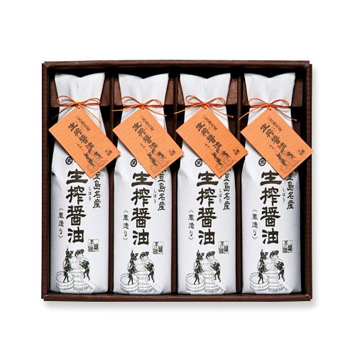 生搾蔵めぐり(TK-40) 生搾醤油720ml×4