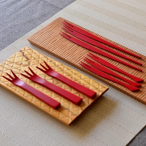 甲斐のぶお工房 竹製デザートフォーク