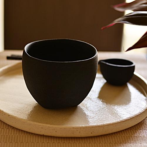 大野香織 黒釉カフェオレボウル