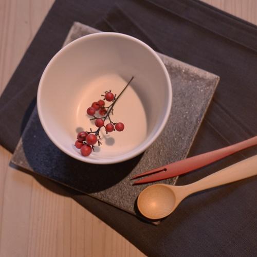 奥田章 リバーシブル板皿15cm