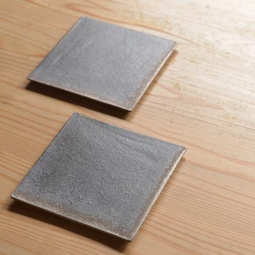 奥田章 リバーシブル板皿12cm
