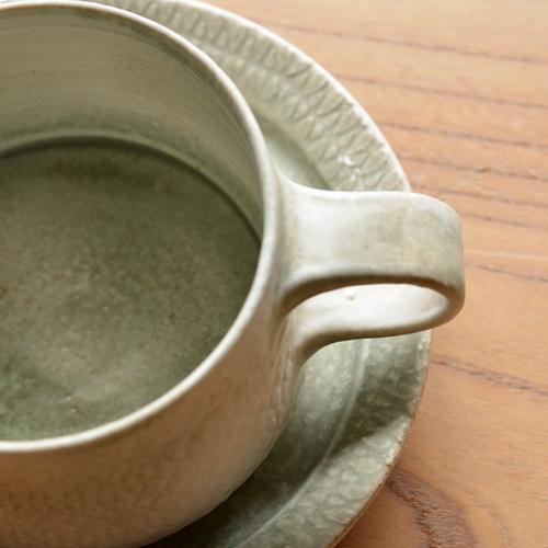 徳山久見子 型染めカップ&ソーサー