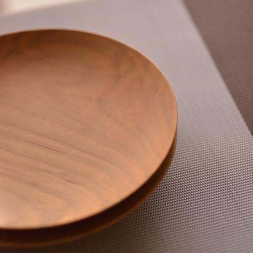 後藤文生 天然木小皿15cm