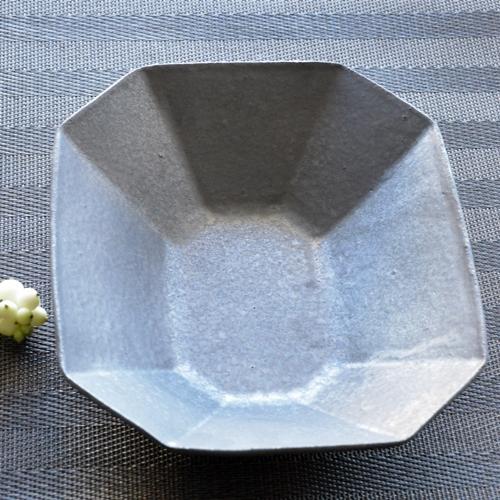 橋本尚美 長方形八角鉢 ダークグレイ