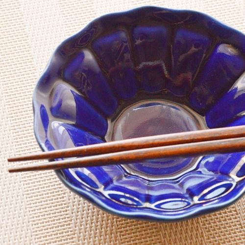 橋本尚美 デザート皿(小鉢) ヒマワリ ルリ