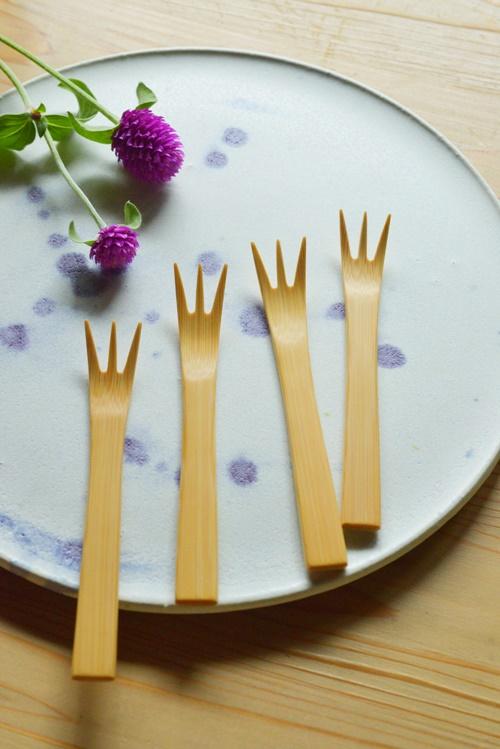 竹製デザートフォーク