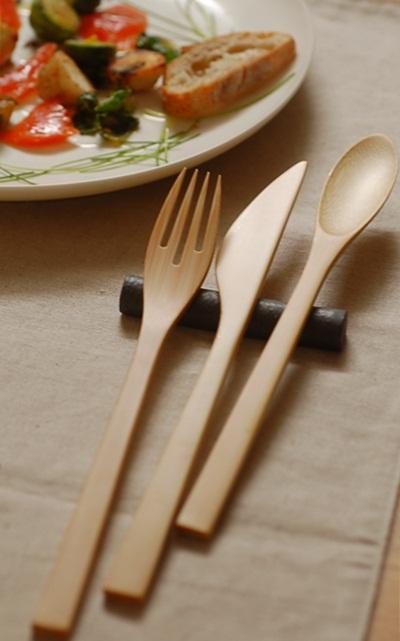 竹製ディナーカトラリー