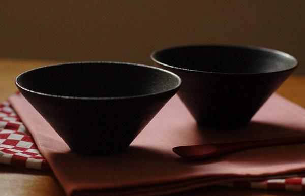 黒釉デザート小鉢 大小