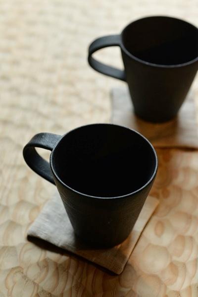 黒釉マグカップ