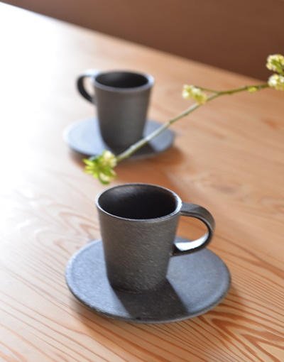 黒釉デミタスマグカップ