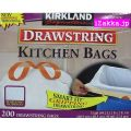���������ɥ����ͥ��㡼���Ҥ��դ��ݥ��ޡ�49��åȥ�200�����ꡡKIRKLAND Signature DRAWSTRING KITCHEN BAGS